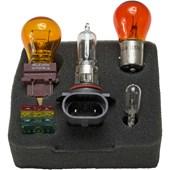 CONJUNTO LAMPADAS E FUSIVEIS PARA REPOSICAO 12V 9005 / 1157A(P21 / 5W) / 3757A / 2825(W5W) - HELLA
