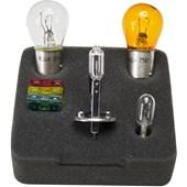CONJUNTO LAMPADAS E FUSIVEIS PARA REPOSICAO 12V H1 / 1034 / 7507 (P21W) / 2825 (W5W) / FUSÍVEIS 10A,20A,30A - HELLA