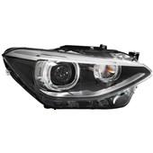 FAROL BI-XENON E LED BMW SERIE 1 118I 2011 EM DIANTE LADO DIREITO COM MOTOR DE REGULAGEM - HELLA