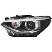 FAROL BI-XENON E LED BMW SERIE 1 118I 2011 EM DIANTE LADO ESQUERDO COM MOTOR DE REGULAGEM - HELLA