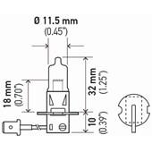 LAMPADA HALOGENA DOUBLE POWER H3 24V DP 70W PK22S T3.25 - HELLA