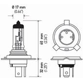LAMPADA HALOGENA DOUBLE POWER H4 24V DP 75/70W P43T T4.625 - HELLA
