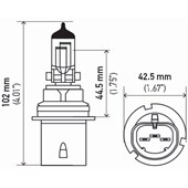 LAMPADA HALOGENA HB1 ALTA PERFORMACE 12V 65/45W HP 2.0 HB1 - HELLA
