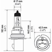 LAMPADA HALOGENA HB5 FILAMENTO REFORCADO LONG LIFE 12V 65/55W PX29T T4.625 HB5 - HELLA