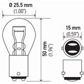 LAMPADA MINIATURA S8 12V 16 / 8W BA15D - HELLA